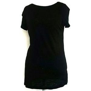 Cloud 9 Semi Sheer T-Shirt Black Size Large